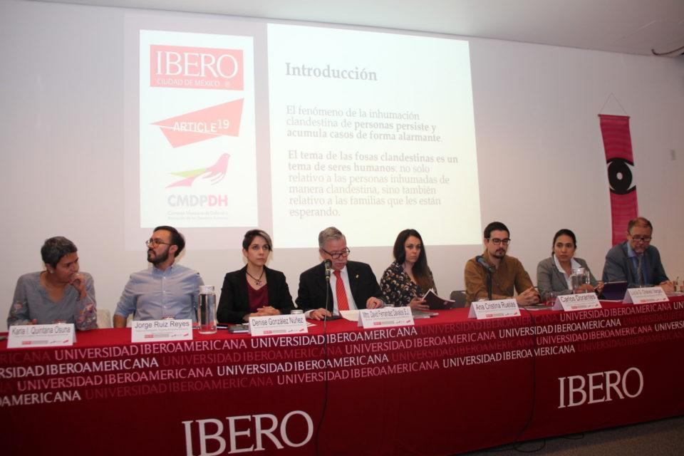 Presentación del informe 'Violencia y terror: hallazgos sobre fosas clandestinas en México 2006-2017